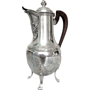 Antique French sterling silver coffee pot, 19th century