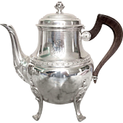 Antique French sterling silver tea pot, 19th century