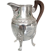 Antique French sterling silver and vermeil milk jug, 19th century