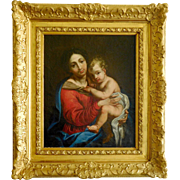 18th century French School, Virgin and Child after Mignard