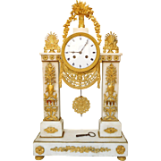 18th century French ormolu and marble clock - circa 1795-1800