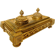 Louis XVI style ormolu inkwell - Subes collection at Château des Evêques