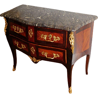 18th century Louis XV commode / chest of drawers stamped Reizell - Prince de Condé 's cabinet maker