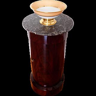 Somno - cylindrical bedside table, Cuban mahogany veneer - France Empire Period