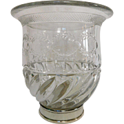 Baccarat Crystal Vase - Baccarat Museum Pattern - France early 20th century.