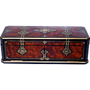 19th Century Jewelry Marquetry Box Napoleon III Period - Signed Of Blache In Lyon France