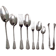 Antique French sterling silver flatware 18 guests - 99pcs - Louis XIV style, Henri Soufflot
