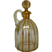 Antique French Baccarat crystal liquor decanter, late 19th century
