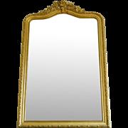 Very Large Fireplace Gilt Mirror Mercury Glass 135 X 210cm Napoleon III