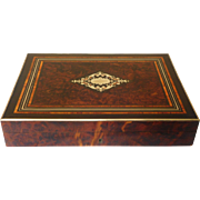 Antique French Gambling Marquetry Box Napoleon III Period circa 1860
