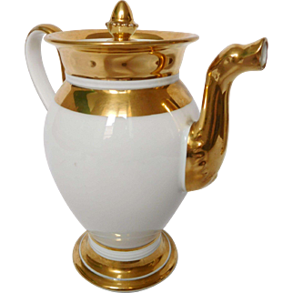 Empire Porcelain Teapot Or Coffee Pot, Early 19th Century