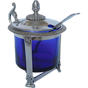 Antique French Empire Sterling Silver Mustard Pot, Early 19th Century (1819)