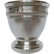 French antique sterling silver egg cup, Louis XV style, late 19th century
