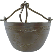 Antique French sterling silver tea strainer, Minerva 1rst standard .950