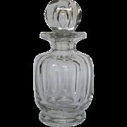 Baccarat crystal perfume bottle, Malmaison pattern, signed