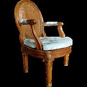 Louis XVI caned walnut desk armchair - France 18th century circa 1780