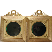 Antique French gilt bronze / brass frame - 2 views, Louis XVI style