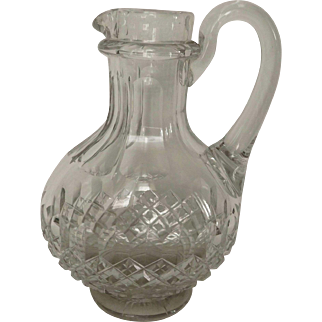 antique Baccarat cut crystal water pitcher