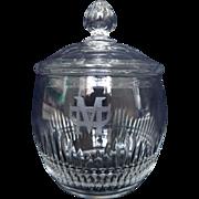 antique Baccarat crystal sugar pot or candy box