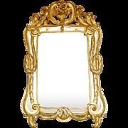 Large gilt wood mirror - Louis XV period - France circa 1765