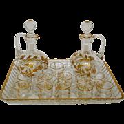Baccarat crystal liquor set enhanced with fine gold - France circa 1890