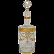 Baccarat crystal liquor decor enhanced with fine gold - Louis XVI style - France circa 1890