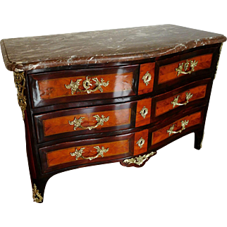 Regence - Early Louis XV Period Commode (rosewood And Violet) - France Circa 1740