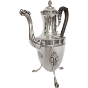 Antique French sterling silver coffee pot, Empire period, early 19th century