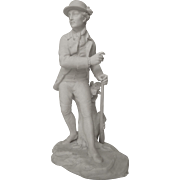 Sevres biscuit : The Hunter after JB Oudry, late 19th century