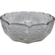 Antique French Baccarat crystal salad bowl