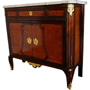Antique French rosewood and mahogany sideboard / buffet, 18th century