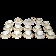 Sevres porcelain : complete tea set for 12 guests, Peyre pattern, 1888