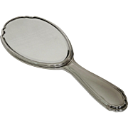 Tetard Frères : French Antique sterling silver mirror