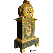 Tall Ormolu Empire Clock - French Restoration Period Empire Circa 1820 52cm