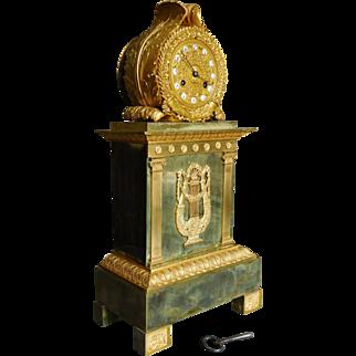 Tall Ormolu Empire Clock - French Restoration Period Empire Circa 1820 52cm