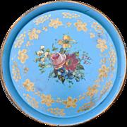 Large Metal Painted Platter France - Circa 1860 - 53cm