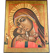 Vintage Greek Madonna & Child Icon