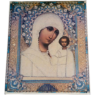 Russian Madonna & Child Icon Print