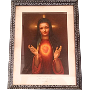 Rare Immaculate Heart of Mary by Leslie Emery