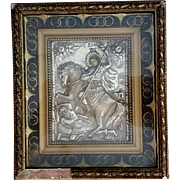 Greek Icon of Saint Demetrius: Patron of Soldiers and Crusades