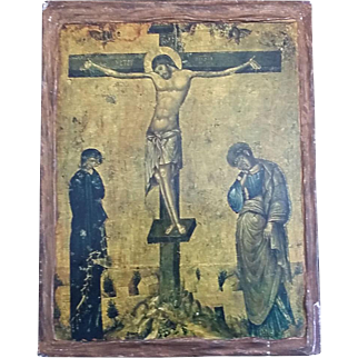 Icon of the Crucifixion with Mary & John
