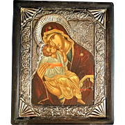 Madonna and Child Icon, .950 Sterling