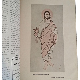 """""""Catholicism in Nippon"""" Publication, WWII Japan 1944"""