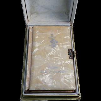 1947 Spanish 1st Communion Prayer Book from Argentina