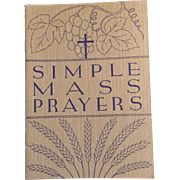 1938 Simple Mass Prayers Books, Set of 4