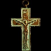 Large Brass Pectoral Crucifix