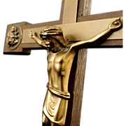 Wall Crucifix with Four Angels