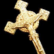 Vintage Brass Wall Crucifix