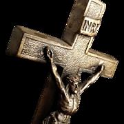 Elegant Metal Tabletop Crucifix