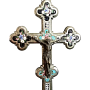 Large 19th Century Micro Mosaic Crucifix - Red Tag Sale Item